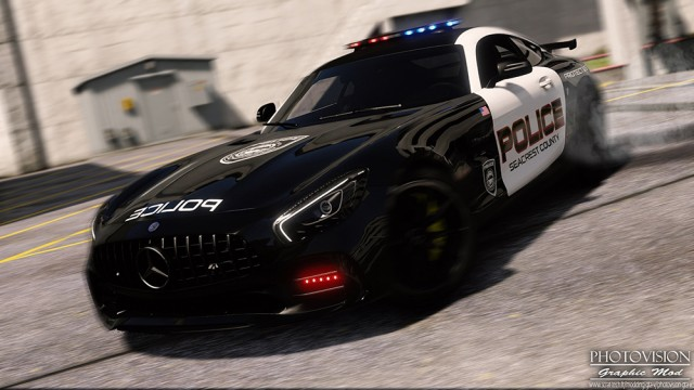 Mercedes-Benz AMG GTR 2017 - Hot Pursuit Police (Add-On/Replace) v1.0