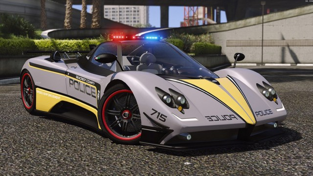 Pagani Zonda Tricolore - Hot Pursuit Police (Add-On/Replace)
