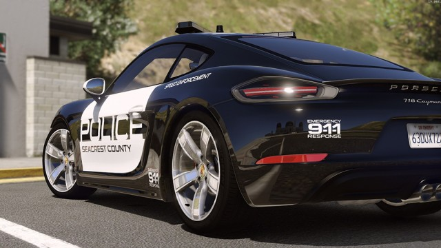 Porsche 718 Cayman S - Hot Pursuit Police (Add-On/Replace)