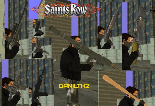 Saints Row 1 & Saints Row 2 Beta Weapons Pack
