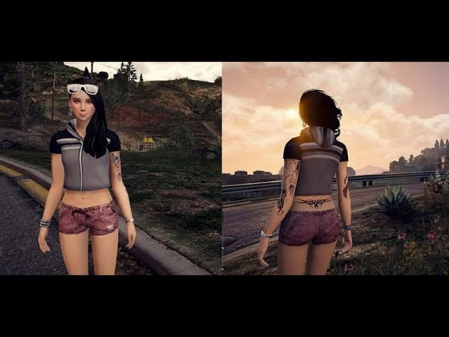 Lana Sims 4 Short and Blouse+Tatto v1.2