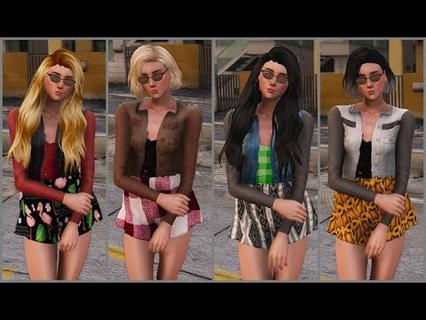 New clothes for Samantha Sims 4 v1.2