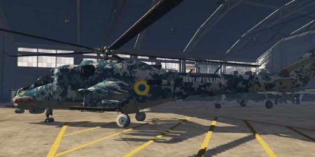 Ukrainian Air Forces Skin for Mi-24 v0.5