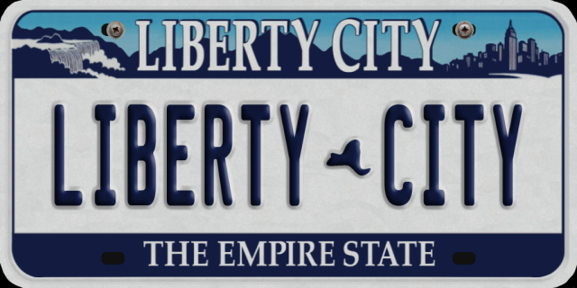 License Plate Liberty City 1986, 2001, 2010